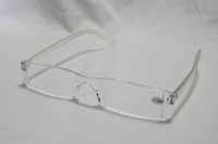 Wholesale Unbreakable Men amp Women Reading Glasses Transparent Plastic Rimless Presbyopic Glasses