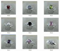Wholesale Bundle Zirconia Sterling Silver Plate Rings Quality Jewelry Manufacturer