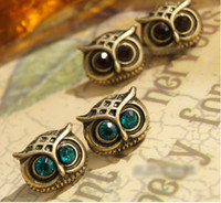 Wholesale Vintage owl earrings Mixed colors