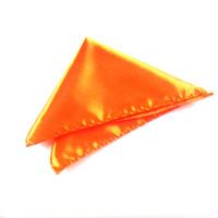 Wholesale Orange Men handkerchief Pocket Square Handkerchief Hanky Napkin Cocktail Evening Party