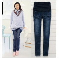 Wholesale New Fashion feet pants Maternity jeans Pregnant women Jeans Maternity Pants Maternity Wear YZ051