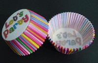 Wholesale 2014 multi color liner with let s party baking paper cup muffin cases for party