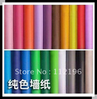 Wholesale 50 meters Auto stick Vinyl Waterproof Wallpaper purer colour wall stickers PVC wall sticker