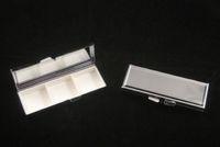 metal pill box - New Pill box Blank Rectangle Pill Case Silver Metal Pill Container X