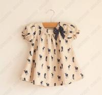Baby girl kids short sleeve deer shirt shirts tops top singl...