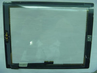 Wholesale Ipad Black White Digitizer Touch Screen Glass with Adhesive And Button For IPad