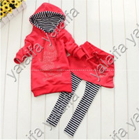 Wholesale spring and autumn the girl dresses fashion clothes hooded fleece culottes sets girl children suit NANTONGW033