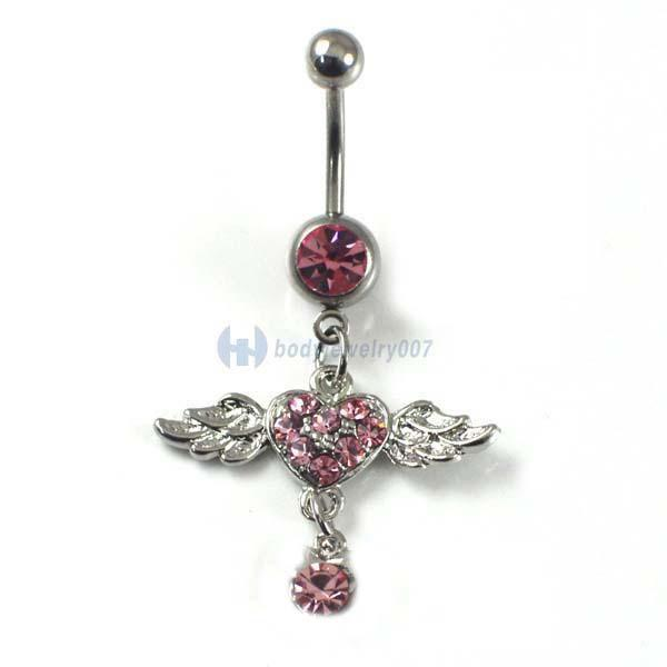 Surgical body piercing jewelry belly button dangle navel for Belly button jewelry store