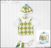 Unisex girls leotard - new SAMGMAI Baby Ling shaped leotard Baby One Piece Romper Girls Romper hat socks sets Baby Kids Clothing
