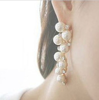Wholesale High end Pearl earrings Gold Silver