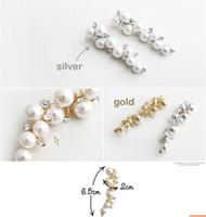 Wholesale 2012 Best Selling Pearl earrings Gold Silver