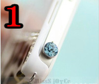 Wholesale CPA Diamond Anti Dust Earphone Jack Plug Stopper for Apple iPhone G Gs S