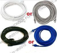 Wholesale 25FT CAT5 CAT5E RJ45 LAN Ethernet Patch Network Cable Cord White Grey Blue Black