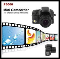 Wholesale F5000 Digital Video Camera Camcorder the Smallest Mini DV DVR HD P Black LED Flash