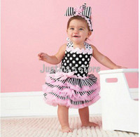 China (Mainland) Made in China Breathable,Eco-Friendly China Post Free shipping!! 8sets Doomagic Baby Dress,elegant black pink color,girls dress, baby wea