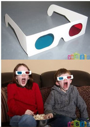 3500X NEW 3D Glasses Red Cyan Blue Stereo Glasses Dimensional Anaglyph Glasses NEW Wholesale Free Shipping