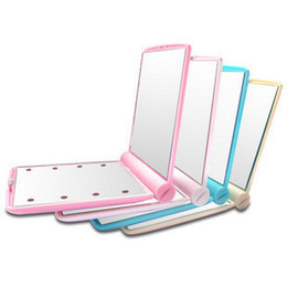 Wholesale NEW Fashion Design Folding LED leds Light Lamps Makeup Cosmetic Mirror