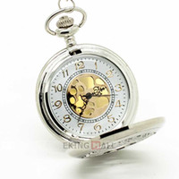 Wholesale 10PCS New Silver Flower Quartz Pocket Watch Necklace Long Chain Large Pendant x4 cm Unisex Watch
