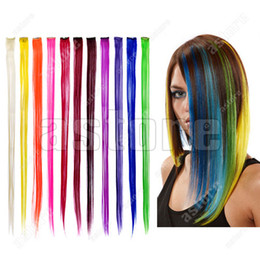Wholesale 10 New Fashion Popular Colored Clip On In Hair Extensions quot