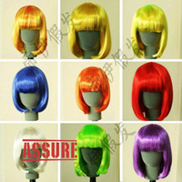 Wholesale Cosplay Wig Blonde Cosplay Short Pink Wigs Cosplay Halloween Party Wig curly Synthetic Curly Hair Wigs Remy Human Hair