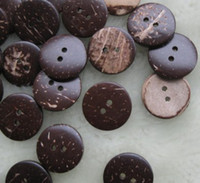 Wholesale 200pcs mm hole Natural Coconut Buttons NEW Clothing design DIY Sewing Garment Craft