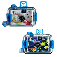 Wholesale 3pcs Ultra compact mm film Underwater Camera with plastic waterproof case max M LOMO camera Models