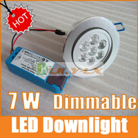 Wholesale LED Downlight W Dimmable x1W with driver LED lights ceiling led light recessed downlights SALE