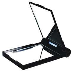 Wholesale LED Light Flat and Times Magnified Compact Personal Makeup Mirror Sides Mirrors LED Lights