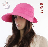 Wholesale Anti Uv Caps Lady Hat Summer Caps Cotton Cap Adjustable women hat fisherman hat
