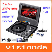 Wholesale 270 rotate inch Color TFT LCD Screen Portable DVD Digital Video Disk with PAL NTSC SECAM analog