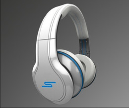 Wholesale 4PCS EMS SMS Audio Street Over ear double trackWired Headphone Black White Blue best quality and good service Factory sealed from betterbuy