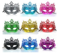 Wholesale Crown Fancy Dress Mask Masquerade Mask Halloween Mask Party Face Mask Good Quality