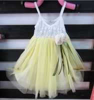 Wholesale Children dress Girls lace yarn harness dress