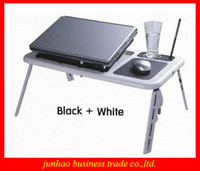 Double Fans abs notebook cooler - Brand New Cool ABS Laptop Computer Desk Foldable Table Notebook Radiator Portable Bedding Table