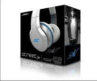 10PCS DHL Expédition SMS Audio Street par 50 Cent sur-oreille filaire casque Noir / Blanc / Bleu Mix Ordre
