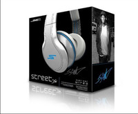 10PCS DHL Shipping SMS Audio Street par 50 Cent Over-ear Wired Headphone Black / White / Blue Mix Order