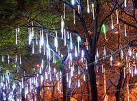Wholesale Double side LED lights cm Meteor rain light Christmas ornament lights Fairy Wedding Flash LED