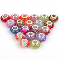 Wholesale 200 Mixed Items Resin Acrylic Beads Lampwork for European beaded Fit Charms Bracelets DIY