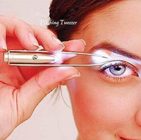 Wholesale Pieces New Excellent Bright LED Eyelash Eyebrow Tweezers Make Up Tool