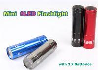 Mini 9 LED Flashlight Aluminium LED Torch Camping Torch Ligh...