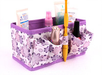 cd storage box - Floral Pattern Folding Cosmetic bag Clothes CD Storage Box Container