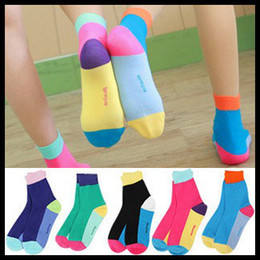 Wholesale women s splice socks ankle socks floor sox cotton short socks mix five colors