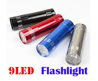 Mini 9 LED Flashlight Aluminium LED Torch Camping Torch Ligh...