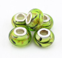 Cheap New 20pcs Wholesale fashion loose murano glass beads charms silver plated bead fit bracelets jewelry