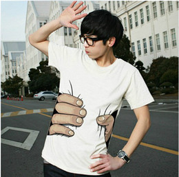 Wholesale 2013 promotion cotton T shirt Printing Hot D visual creative personality spoof grab you