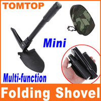 Wholesale Mini Multi function Folding Shovel Survival Trowel Dibble Pick compass bottle opener saw H8078S