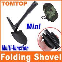 Wholesale Mini Multi function Folding Shovel Survival Trowel Dibble Pick compass bottle opener saw H8078S