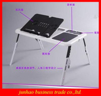 Double Fans Plastic  Stents Radiator Desk Notebook Bed Folding Table Cooler USB Radiator For Laptop Computer Radiator