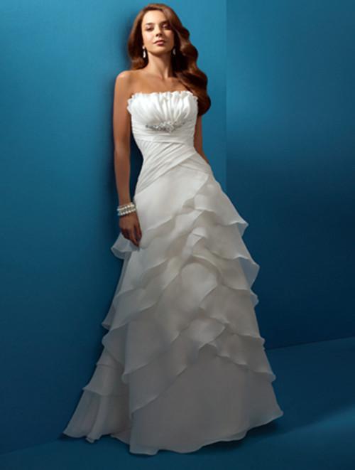 Discount 2102a lline bra organza layered folds bride for Bra for wedding dress shopping