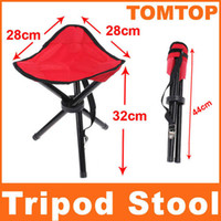 Wholesale Folding Outdoor Camping Hiking Fishing Picnic Garden BBQ Stool Tripod Chair Seat H8079
